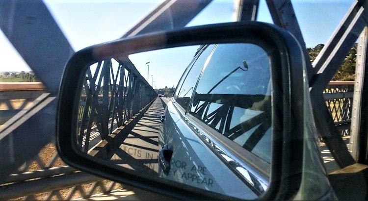 Driving over the bridge in Murray Bridge South Australia.