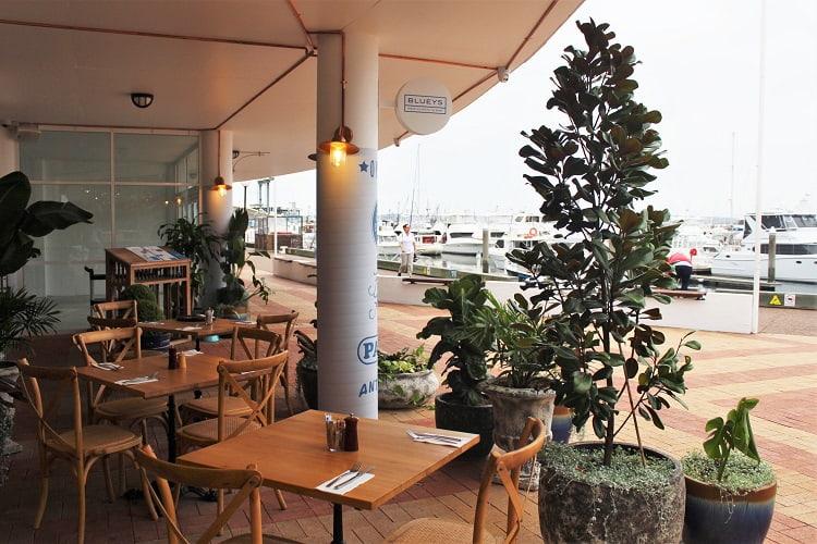 Nelson Bay Marina cafes.