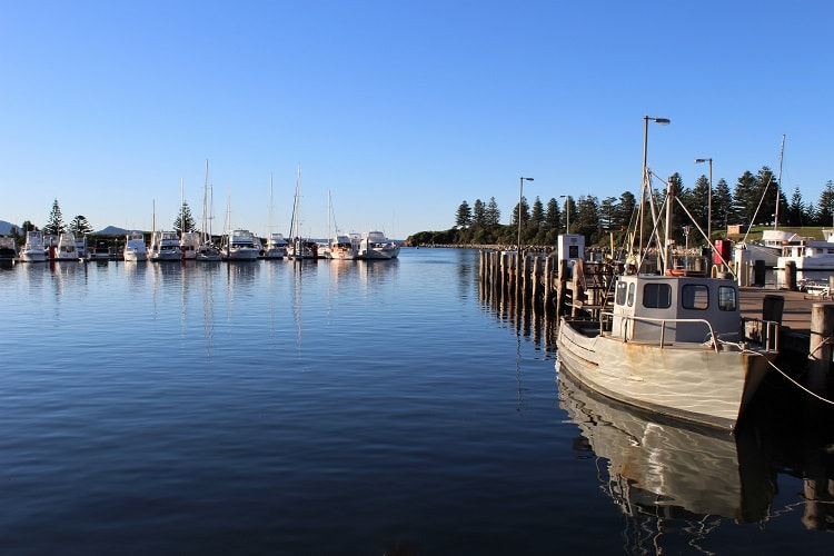 Pretty Bermagui Harbour in New South Wales.
