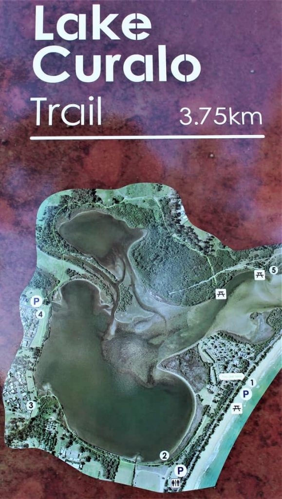 Map of Lake Curalo Trail, a walk in Eden NSW.