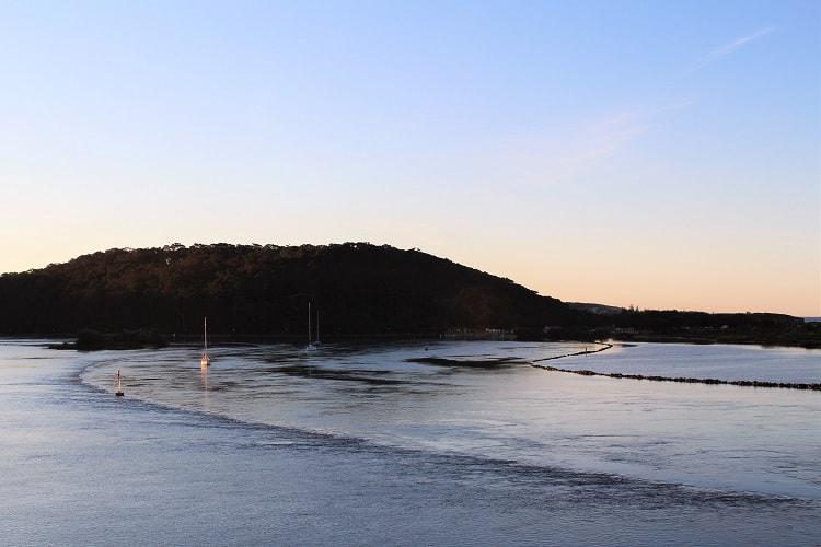 Beautiful sunset in Narooma NSW.