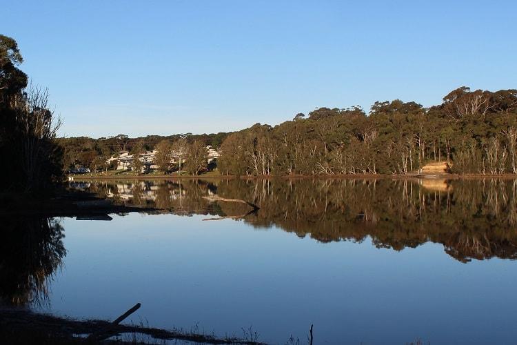Wallaga Lake in NSW.