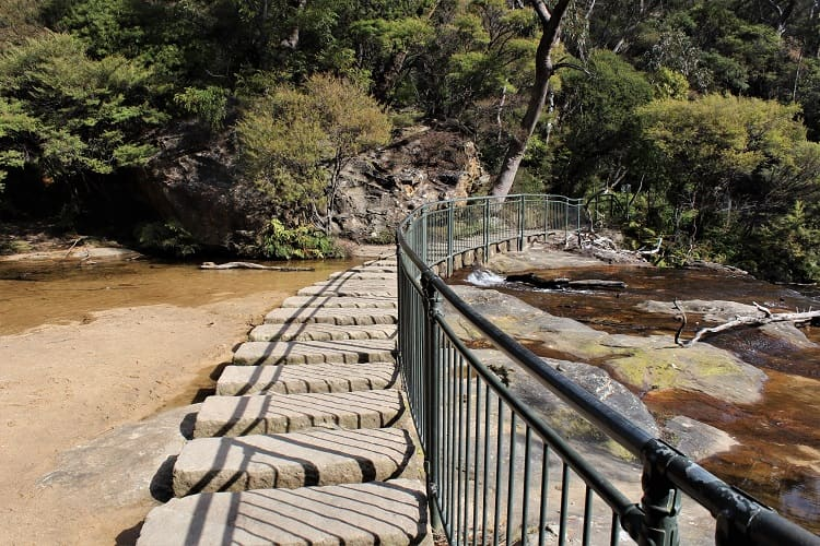 Wentworth Falls stepping stones.