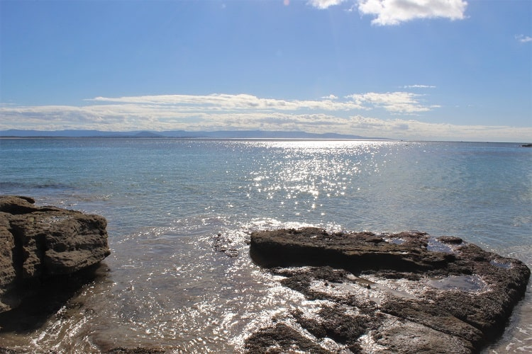 View from Abraham's Bosom Beach in Jervis Bay.