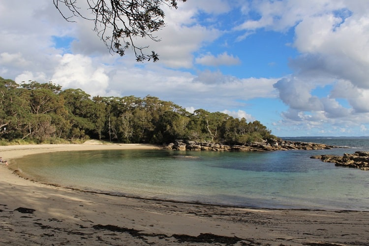 Famous Honeymoon Bay in Jervis Bay NSW.