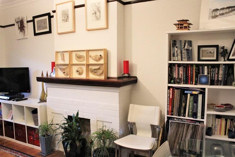 Inside a period home in Melbourne.