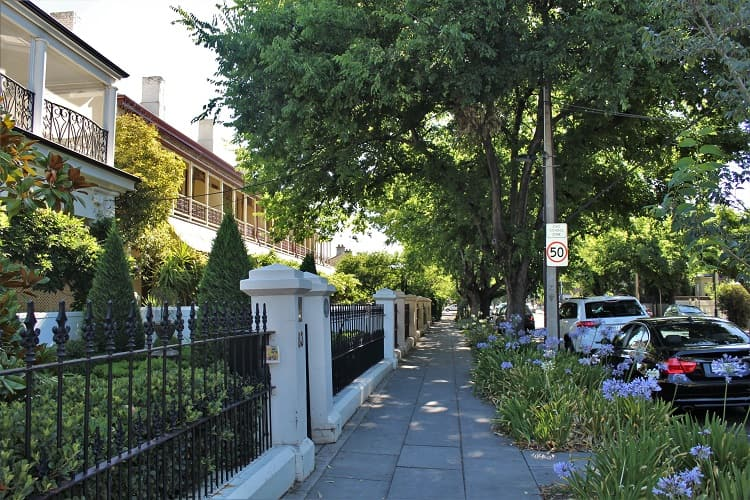 Living in Adelaide: a beautiful residential street with heritage real estate.