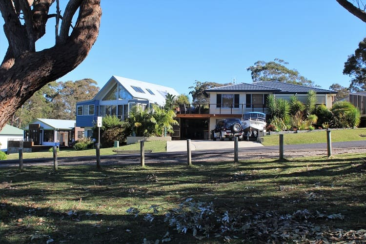 Beautiful beach houses at Durras South NSW.