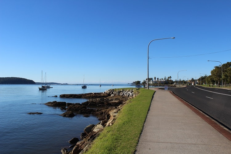 Batemans Bay town centre in New South Wales.