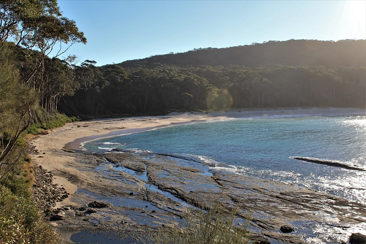 Stunning Depot Beach in New South Wales, where you can go camping.