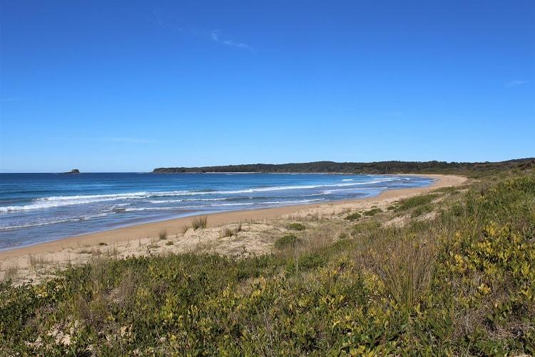 Rugged Durras Beach - one of many Batemans Bay attractions in Murramarang National Park Australia.