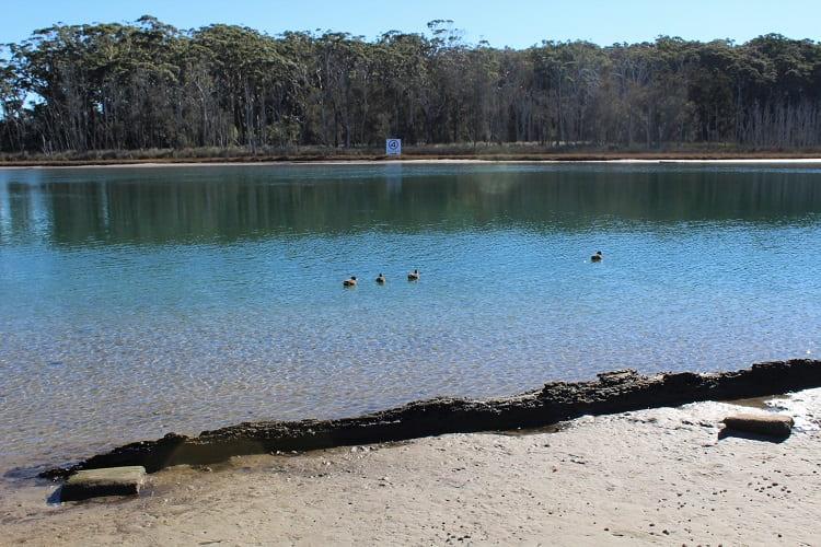 Crystal clear Durras Lake near Batemans Bay Australia.
