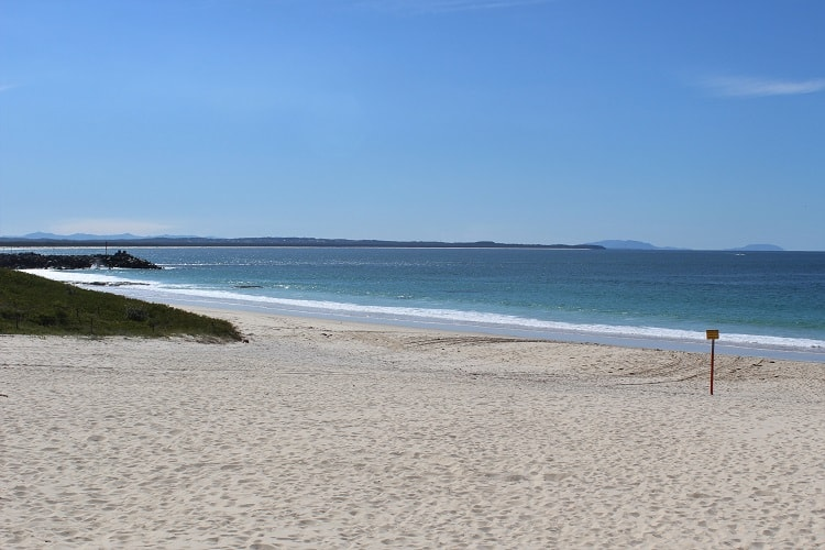 Main Beach in Forster, just four hours from Sydney.