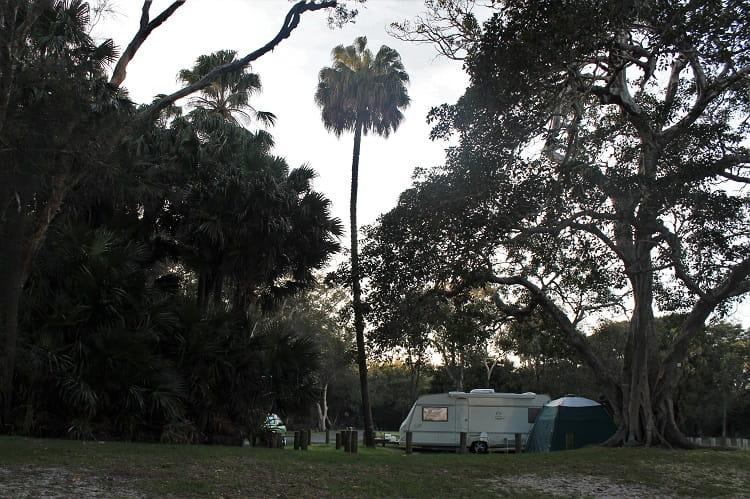 Camping at Mungo Brush NSW.