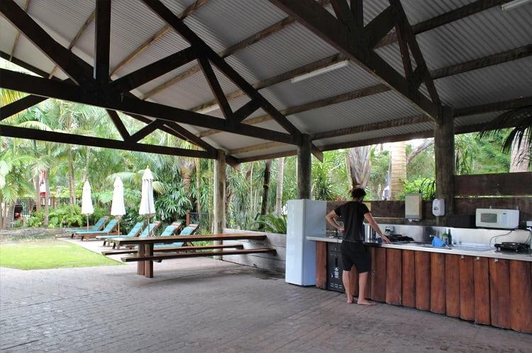 Kitchen facilities at Big4 Sunshine Holiday Park, South West Rocks.