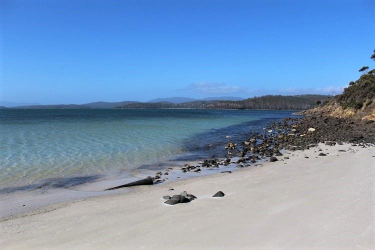 Stunning beach on Bruny Island Australia.