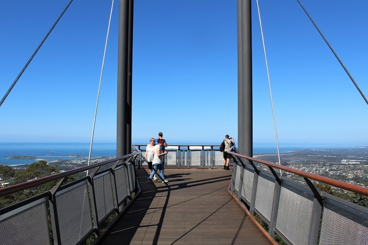 Forest Sky Pier at Sealy Lookout, Coffs Harbour NSW.