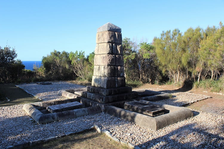 German Monument at Trial Bay.