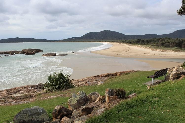 Trial Bay Beach in NSW, Australia.