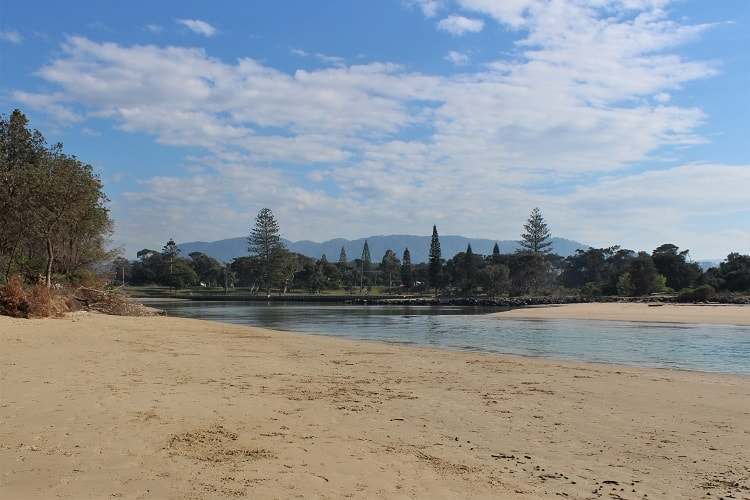 Coffs Creek, where you can join an Aboriginal stand up paddle tour.