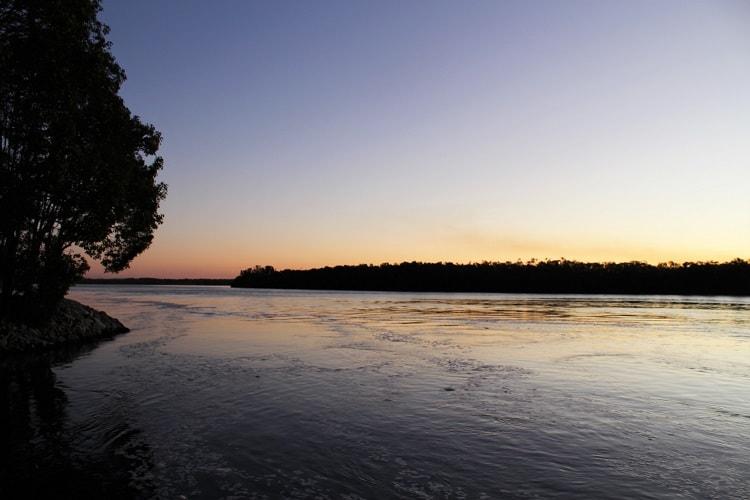 Sunrise at Fishing Haven Holiday Park, Palmer Island, Yamba.