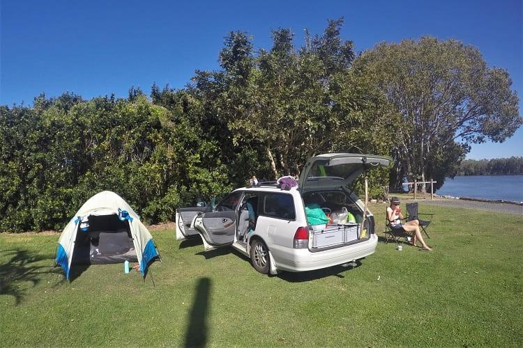 Yamba camping at Fishing Haven Holiday Park.
