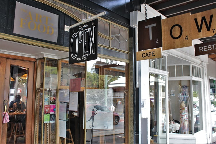 Boutique shopping in Bangalow NSW.