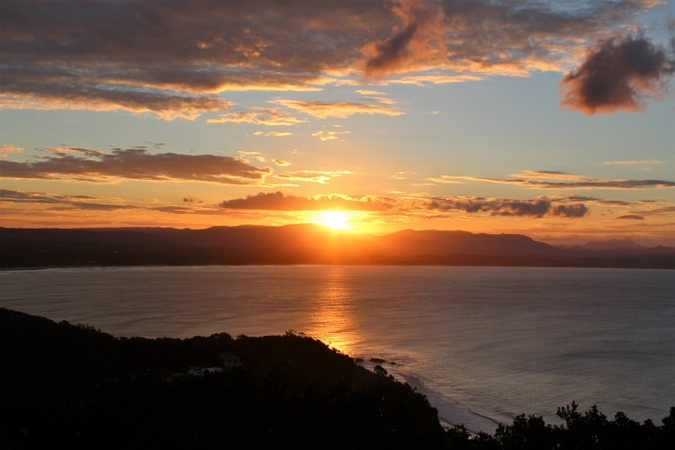 Sunset from Cape Byron Lighthouse.