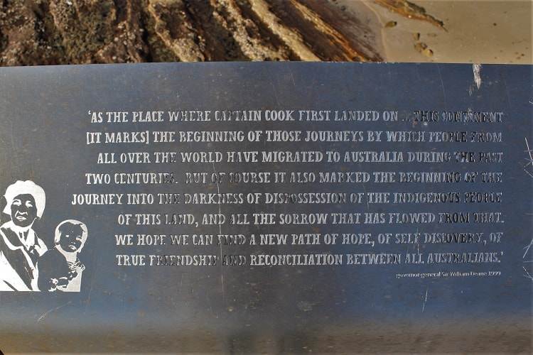 Historical Information about the impact of Captain Cook's landing in Australia on Aboriginal people.