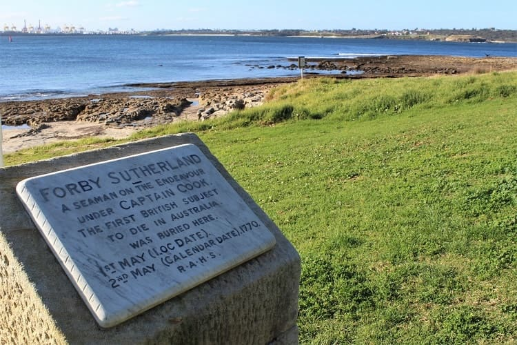 Forby Sutherland monument in Kurnell