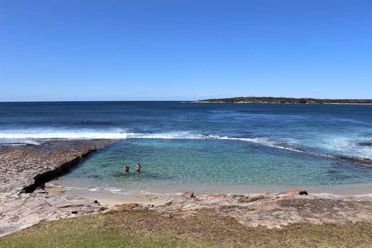 Swimmers at Glaisher Park Rock Pool in Cronulla, Sydney.
