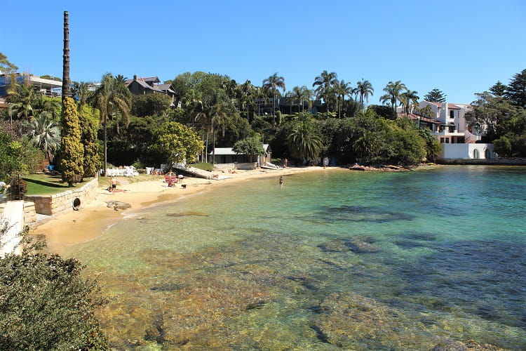 Beautiful Kutti Beach in Vaucluse, one of Sydney's most expensive suburbs.