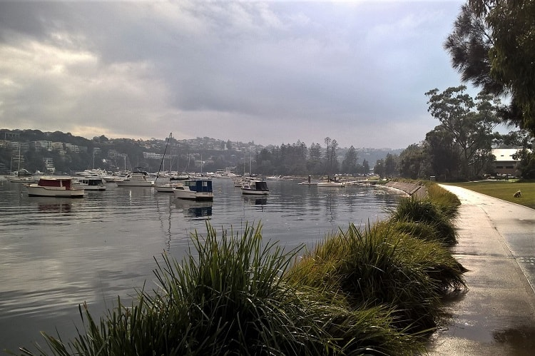 An overcast and atmospheric day at Pearl Bay Reserve in Mosman, one of Sydney's most beautiful and most expensive suburbs.