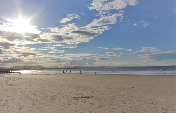 Huge and beautiful Main Beach in Byron Bay.