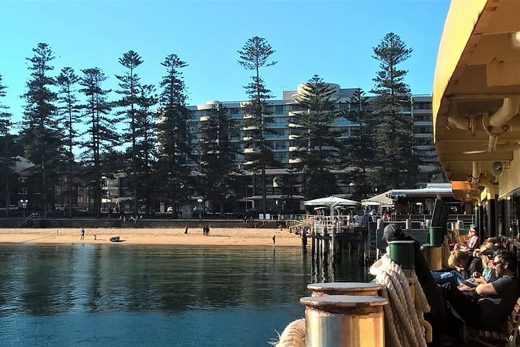 Manly ferry wharf.