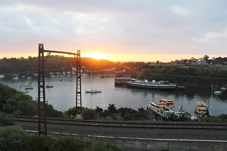 Beautiful sunset at McMahons Point - waterside living in Sydney.