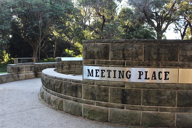 Meeting Place on the Burrawang Walk near Kurnell Visitor Centre.