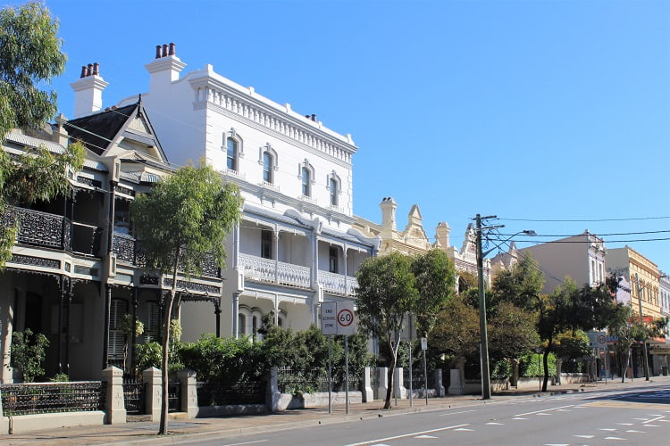 Beautiful heritage houses in Randwick, Sydney.
