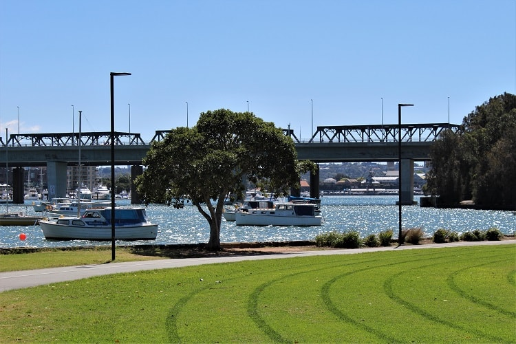 Beautiful King George Park in Rozelle, Sydney.