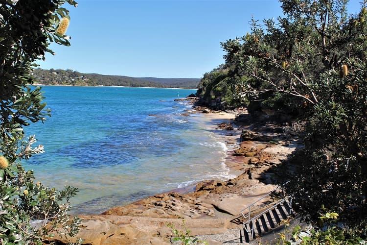 Stunning beach and rocks at Salmon Haul, Cronulla, Sydney.