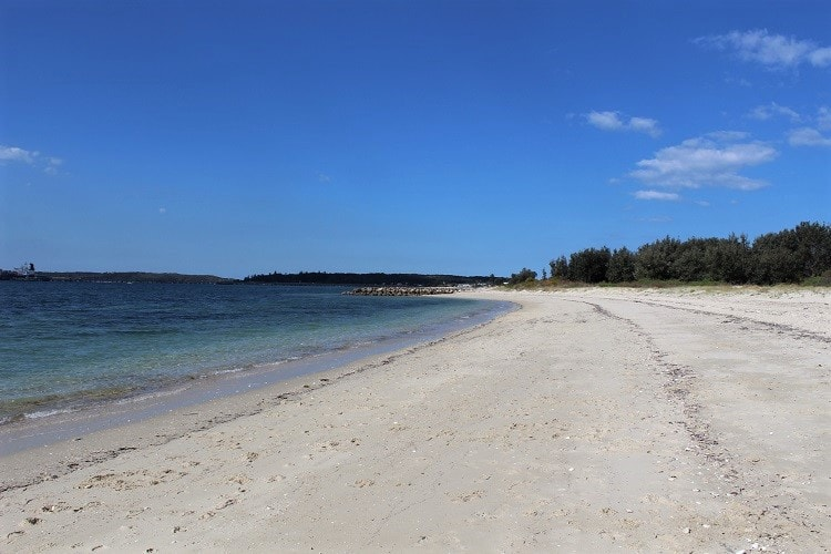 Beautiful Silver Beach in Kurnell on a sunny day.