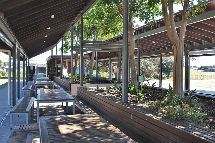 Dining area for those camping at Cockatoo Island.