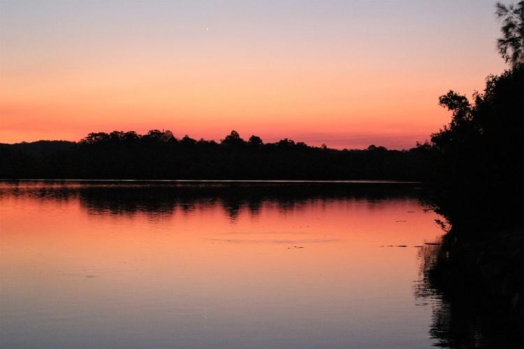 Amazing sunset at Lions Park in Macksville, Noth Coast NSW Australia.
