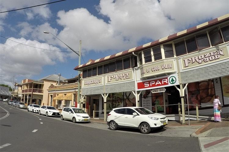 Historic buildings in Maclean, NSW, Australia.