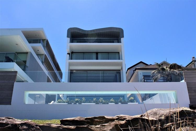 Sydney beach house mansion on the Bondi to Coogee walk.