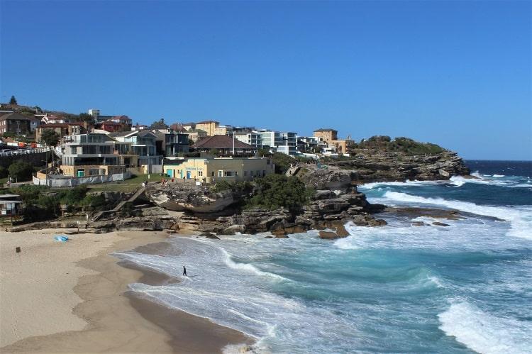 Beautiful Tamarama Beach in Sydney, halfway along the Bondi to Bronte walk.