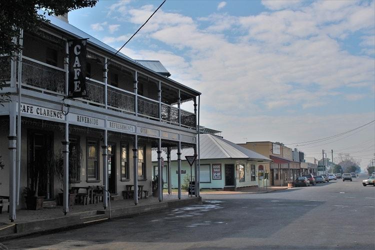 Ulmarra Hotel and historical buildings in Ulmarra, North Coast NSW.