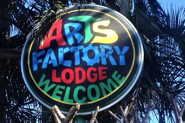 Stay at Byron Bay's famous Arts Factory Lodge, a backpacker resort with tee-pees, lakeside cabins, camping and dorms in NSW Australia.