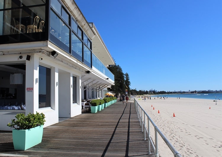 Le Sands Restaurant on the waterfront at Brighton-Le-Sands, Sydney.
