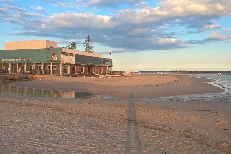 Georges River Sailing Club at Sandringham Beach, Sydney.